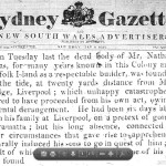 death notice Sat 9th May 1818