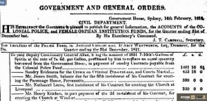 gen orders The Sydney Gazette and New South Wales Advertiser (NSW  1803 - 1842) Saturday 14 February 1818