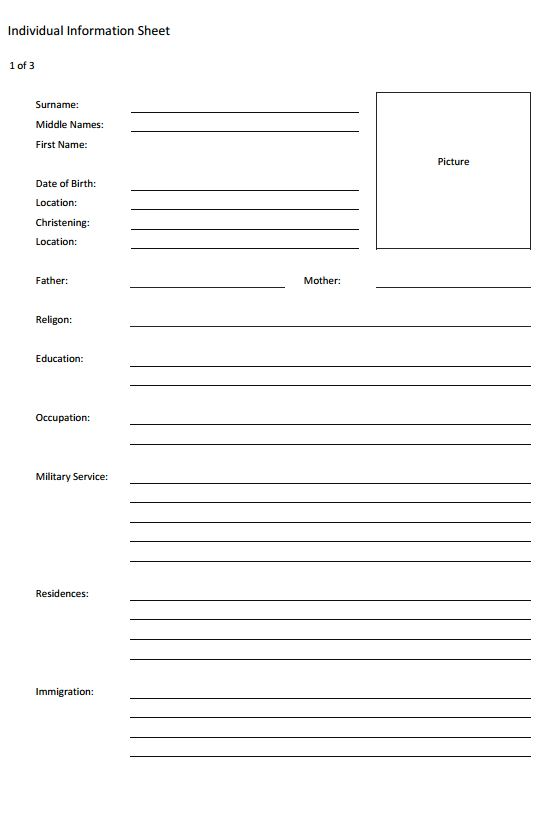 Worksheets Genealogy Worksheet genealogy forms and charts individual worksheet