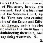 letter of Notice 2 e Sydney Gazette and New South Wales Advertiser (NSW  1803 - 1842) Saturday 1 August 1818